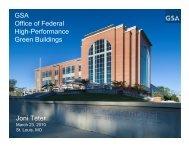 GSA Office of Federal High-Performance Green Buildings Joni Teter