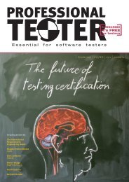 entire october 2011 issue - Professional Tester
