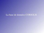 La base de données CORIOLIS