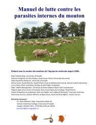 Manuel de lutte contre les parasites internes du mouton