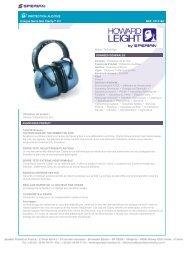 Casque Serre-tête Clarity™ C3 REF. 1011146 - Fisher UK Extranet