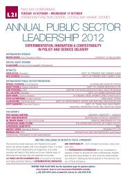 L21 Public Sector Leadership 2012 brochure