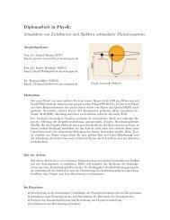 Diplomarbeit in Physik: Simulation von Lichtkurven und Spektren ...
