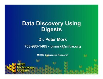 Data Discovery Using Digests - Mitre