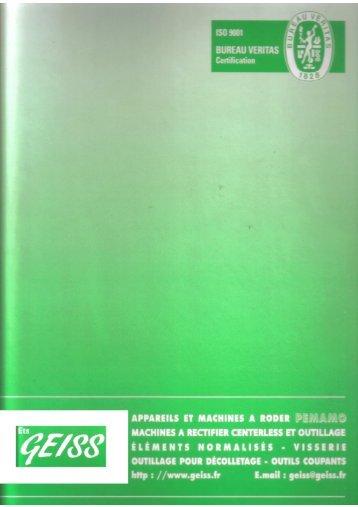 catalogue éléments normalisés - Geiss