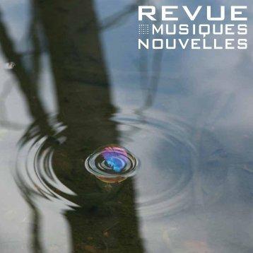 Revue#4 (pdf) - Musiques Nouvelles