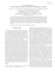 The Gödel universe - Institut für Theoretische Physik der Universität ...