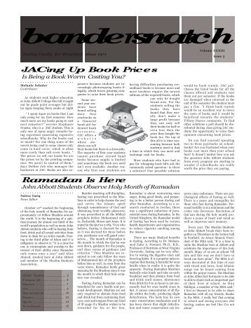 Issue V - John Abbott College