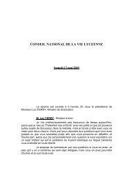 conseil national de la vie lyceenne - Ministère de l'Éducation nationale