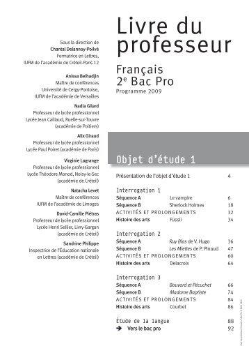 Livre du professeur - Bouel jean jacques