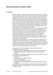 Akute myeloische Leukämie (AML) - IMD-Lab