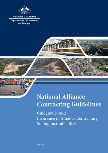national alliance contracting policy and guidelines
