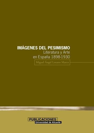 IMÁGENES DEL PESIMISMO - Publicaciones Universidad de Alicante