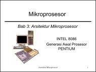 Arsitektur Mikroprosesor - ELearning Jogja