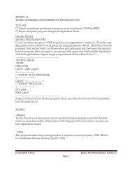 MODUL II TURBO ASSEMBLY DAN MEMBUAT PROGRAM COM ...