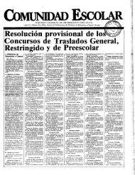Resolución provisional de lo Concursos de Traslados General ...