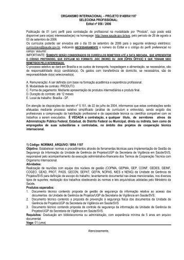 Edital nº 56 - Ministério da Saúde