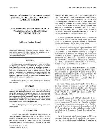 PRODUCCIÓN FORZADA DE NOPAL (Opuntia ficus-indica, cv ...