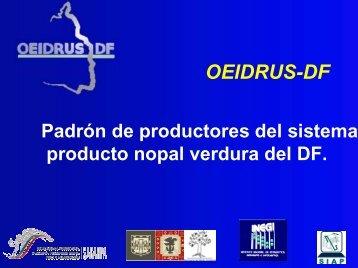 Padrón de Productores de Nopal - Oeidrus DF