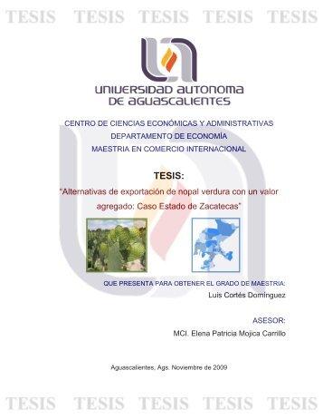 producción y exportación de nopal verdura - Universidad Autónoma ...