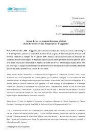 Aiman Ezzat est nommé directeur général de la ... - Capgemini