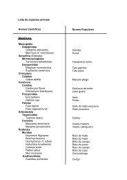 Lista de espécies animais Nomes Científicos Mamiferos ... - UFSCar
