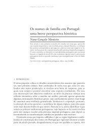 Os nomes de família em Portugal: uma breve perspectiva histórica