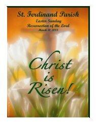 March 31 - St Ferdinand Parish - Home Page