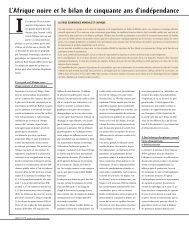 L'Afrique noire et le bilan de cinquante ans d'indépendance - Janus