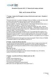 Quizz noces de Cana - Croire
