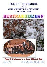 Noces de Palissandre et d'Or au Repas de Noël - Club Bertrand de ...