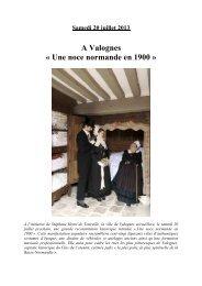 noces normandes dossier presse illustré - Office de tourisme du ...