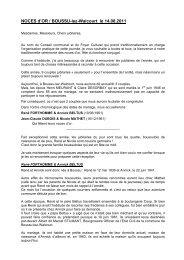 Noces d'Or Boussu 2011