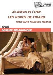 Les dessous de l'opéra - Noces de Figaro - Saison Culturelle du Val ...