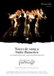 Noces de sang & Suite flamenca - Théâtre du Passage