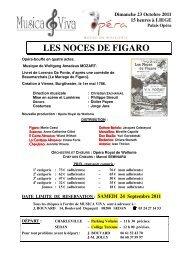 LES NOCES DE FIGARO - Musica Viva - Free
