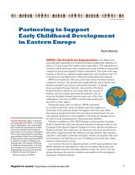 Partnering to Support Early Childhood Development in Eastern ...