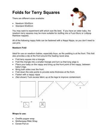Flat Nappy Folds Information Sheet - Derbyshire County Council