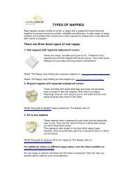 TYPES OF NAPPIES - Changeworks