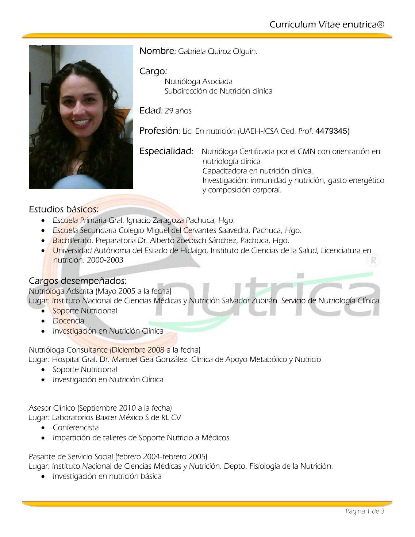 Excepcional Muestra De Curriculum Vitae Oficina Médica Adorno ...