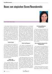 Neues zum atopischen Ekzem/Neurodermitis