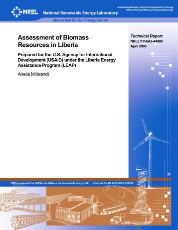 Assessment of Biomass Resources in Liberia - NREL