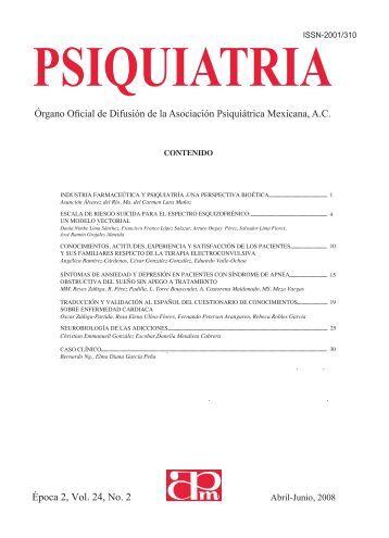 bajar esta publicacion en PDF - Asociación Psiquiátrica Mexicana