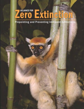 The Alliance for Zero Extinction Report - American Bird Conservancy