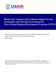 Initial STEWARD Assessment - USAID: Africa Bureau: Office of ...