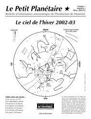 Hiver 2002-2003 - Espace pour la vie