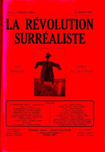La révolution surréaliste N°2, janvier 1925 - Les inventeurs d ...