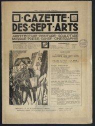 Gazette des sept arts n°2, 25/01/1923 - Ciné-ressources