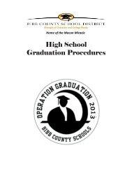 Grad High duatio h Sch on Pr hool roced 1 dures - Bibb County ...