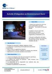 Activité d'Intégration en Environnement Durci - GTIE Air et Défense